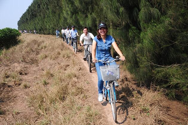 đạp xe ở Nam Định