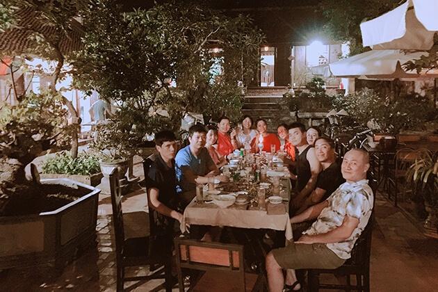 Bữa tối tại homestay