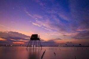 chòi đánh cá của ngư dân Nam Định