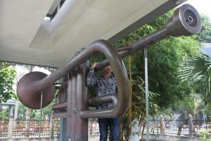 chiếc kèn đồng lớn nhất Việt Nam tại Nam Định