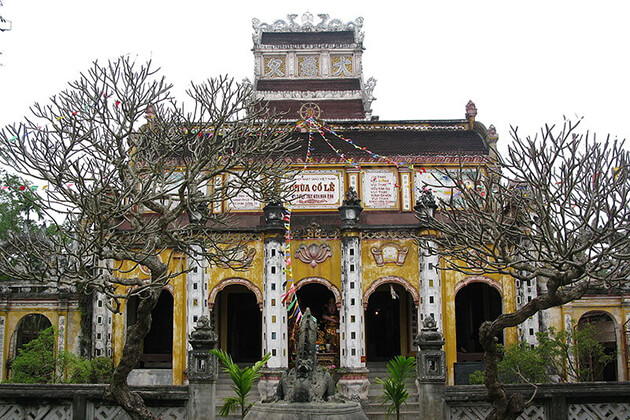 Tòa chính cung tại chùa Cổ Lễ Nam Định